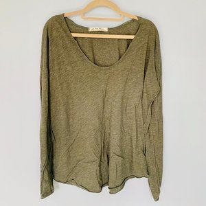 Forest Green Free People T Shirt